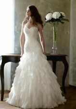White/Ivory Organza Wedding Dress Bridal Gown Custom Size4 6 8 10 12 14 16 18 20