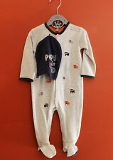 NWT Petit Lem Hat and Embroidered Puppy Footie Set ~ Baby Boy Size 3M-9M