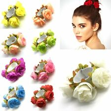 Flower Bun Garland Floral Head Knot Hair Top Scrunchie Band Elastic Bridal NEW