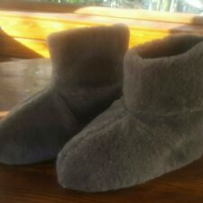 MEN NEW Sheep Wool Home 100% Shoes Warm House Indoor Outdoor Slippers Lot 149