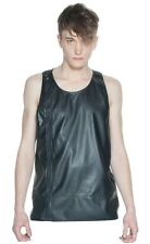 Studio Cove Synthetic Leather  Urban Sleeveless Tank Top Black S,M,L,XL,2XL