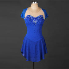 NEW Girl Ice Skating Dress Lycra Competition Diamond Skirted Leotard Performance