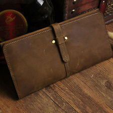 Vintage Mens Genuine Leather Cowhide Bifold Wallet Credit Card Holder Coin Purse