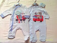 BABY BOY VELOUR AND COTTON  SLEEPSUITS
