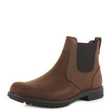 Mens Timberland Earthkeepers Stormbuck Chelsea Dark Brown Ankle Boots Size