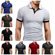 Men's Slim Fit Casual Polo Shirt Short Sleeve Shirt T-Shirt Tee Tops Fashion w18