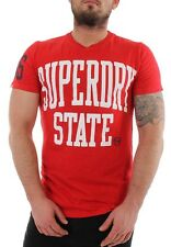 Superdry T-Shirt Men SUPERDRY STATE REBEL REBEL Red