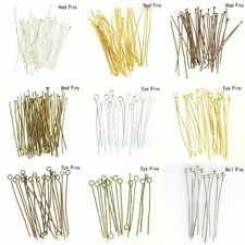 Wholesale Gold Silver Head/Eye/Ball Pins Finding 21/24 Gauge100 pcs Hot