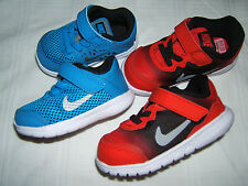 NEW NIKE FLEX Run Shoes Boys Size 4 6 C Blue Red Toddler Running Sneakers 4C 6C