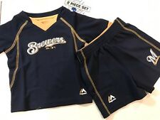 MLB Milwaukee Brewers 2 piece set shorts shirt  for baby infant  *free shipping*