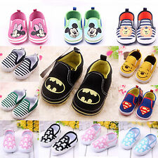 Kid Toddler Infant Boy Girl Slip On Loafers Baby Prewalkers Sneakers Shoes 0-18M