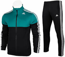 ADIDAS CLIMALITE CLASSIC MEN'S FULL ZIP TRACKSUIT TRACK JACKET & PANTS TAPERED