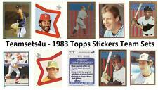1983 Topps Stickers Baseball Set ** Pick Your Team **