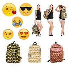Women Girl Schoolbag Smiley Emoji Backpack Satchel College Shoulder Bag Rucksack