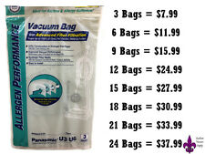 Panasonic U3 U6 CLOTH Vacuum Bags-GREAT FOR THOSE WITH ALLERGIES OR PETS!