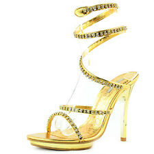 Women's Fun Evening Rhinestone Decor Straps High Heel Sandal Pump