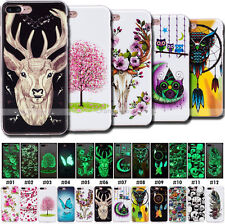 Fluorescence Soft TPU Back Glow Case Night Lights Gel Cover For Apple iPhone