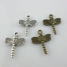 40/300pcs Tibetan Silver/Bronze 16x20mm Dragonfly Charms Pendants DIY Jewelry