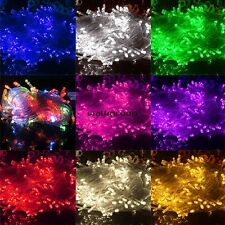 10M 100 LED Chaser String Fairy Lights Indoor Outdoor Xmas Wedding Party WN