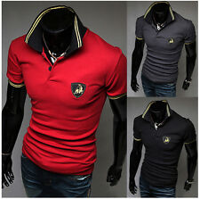 PopularStylish Mens Polo Shirt T-shirts Slim Fit Short Sleeve Casual Tee Shirts