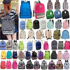 Women Men Girls Rucksack Shoulder Bookbags School Satchel Travel Canvas Backpack