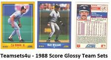 1988 Score Glossy Baseball Team Sets ** Pick Your Team Set **