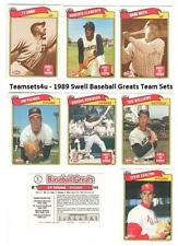 1989 Swell Baseball Greats Team Sets ** Pick Your Team Set **
