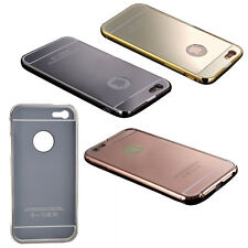 NEW Luxury Aluminum Ultra-thin Mirror Metal Case Cover Black PK WSD1