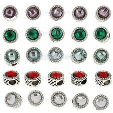 5pcs Wholesale Crystal Circle Spacer Beads Makings Fit Charms Bracelet Necklace