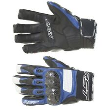RST Freestyle Blue Leather Sports Motorcycle Gloves