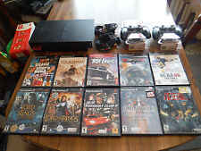 Sony PlayStation 2 Console SCPH-30001 R Bundle With 10 Games 2 Controllers
