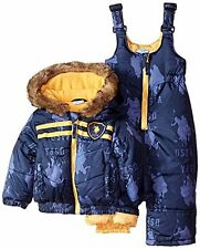 U.S. Polo Assn. Baby Boys' Printed Pongee Snowsuit (4T, Navy) MSRP $125.00