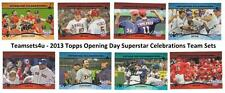 2013 Topps Opening Day Superstar Celebrations Baseball Set ** Pick Your Team **