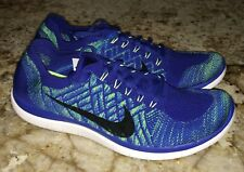 NEW Mens 11 NIKE Free 4.0 Flyknit Royal Blue Training Running Shoes Sneakers