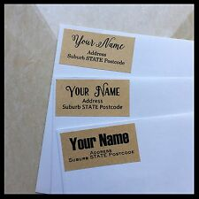 Personalised Return Address Labels Stickers | Rectangle | Text | Kraft | AD210