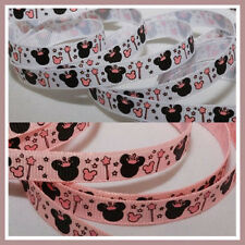 10 Y 3/8 Minnie Princess Crown Grosgrain Ribbon U-Pick
