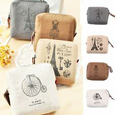Card Pouch Retro Eiffel Classic Tower Wallet Handbags Coin Purse Canvas