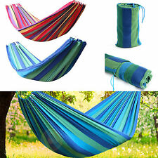 Outdoor Travel Swing Chair Hanging Bed Camping Patio Canvas Portable Hammock