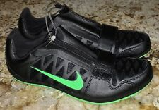 NEW Mens Sz 11.5 NIKE Zoom LJ 4 Long Jump Black Lime Green Track Field Shoes