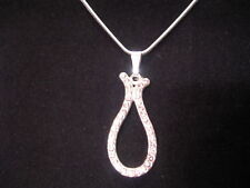 NEW SWAROVSKI ELEMENTS CRYSTAL TEAR DROP PENDANT AND SNAKE NECKLACE QVC