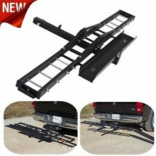Anti Tilt Steel Motorcycle Scooter DirtBike Carrier Hauler Mount Rack US Seller