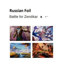 Russian Foil Battle for Zendikar Cards MTG NM Magic The Gathering Worldwide