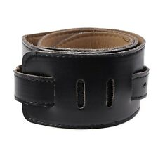 Black Brown Soft PU Leather Strap Thick for Electric Acoustic Guitar Bass New /