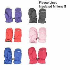 12 pack Kids Toddlers Fleece Lined Winter Gloves Waterproof solid Color Mittens