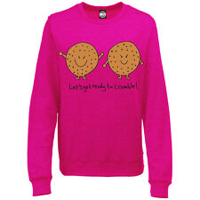 LETS GET READY TO CRUMBLE WOMENS PRINTED SWEATSHIRT JUMPER