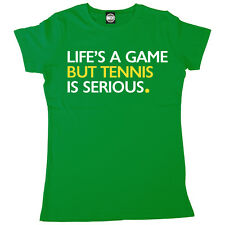 LIFES A GAME BUT TENNIS IS SERIOUS WOMENS WIMBLEDON GRAND SLAM T-SHIRT