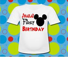 Personalized Mickey Mouse T Shirt Mickey Mouse 1st First Birthday All Sizes