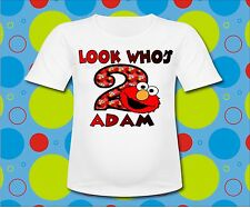Sesame Street Elmo Look whos T Shirt Elmo Birthday T shirt All Sizes