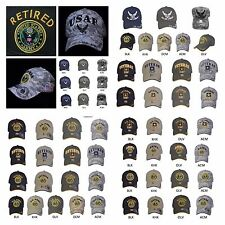 Baseball Cap USA Army Air Force Plain Caps Retired Veteran Military Fashion Hats