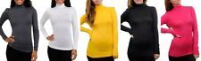 NWOT super soft stretch mock turtle neck long sleeve top 5 colors S M L cute!
